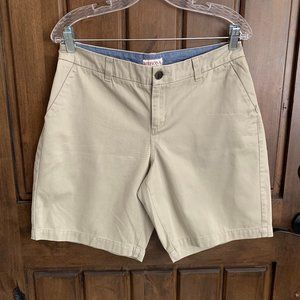 Merona Khaki Walking Shorts, Size 12, NWOT